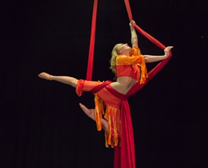 ELSIE SMITH - Aerialist Alyssa Morar performs in Ruckus:  A Cirque Spectacular