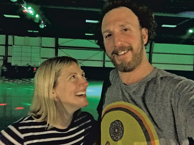 Angela and Ryan at Skateland