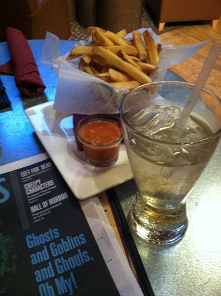 Dinner on a good day: French fries and ginger ale. - MEGAN JAMES