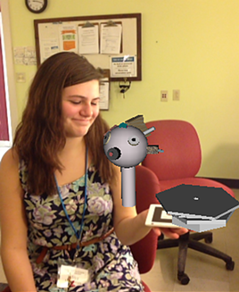 Creating an augmented-reality object in the IT institute