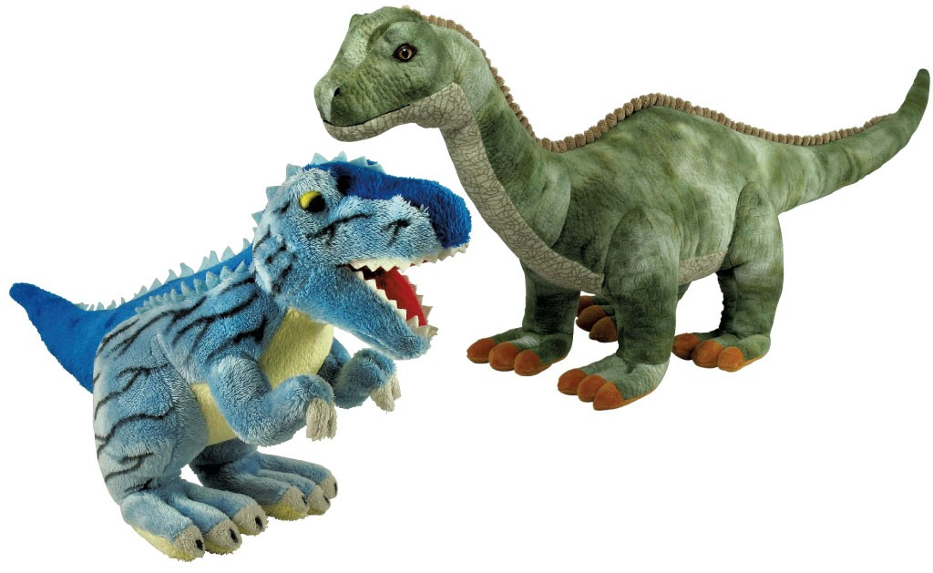 Cuddle Zoo plush dinosaurs, $3.95 to $29.95, depending on size; available at Buttered Noodles, Homeport, Shelburne Supermarket and Kidstructive Fun at the Burlington Town Center