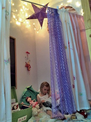 Fee Kennedy in her book nook.