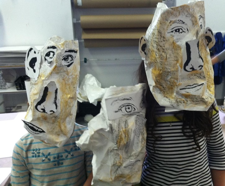 Finished masks at the Museum of Contemporary Art in Montreal - JESSICA LARA TICKTIN