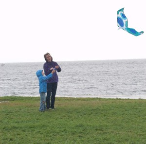 Flying a Kite on Burlington's waterfront