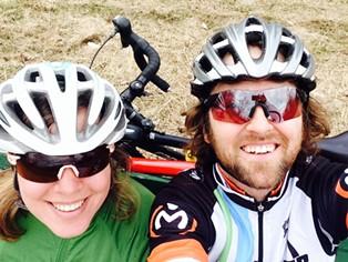Sarah and Tristan taking a riding break.