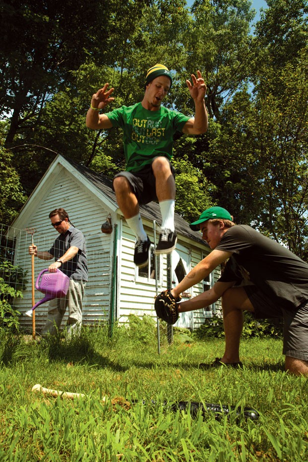 """Herschel """"Boog"""" Powell and the Pines having some fun at home"""