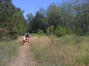 Hiking at Burton Island State Park