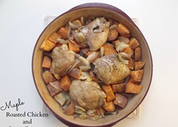 Home Cookin': Maple-Roasted Chicken and Sweet Potatoes