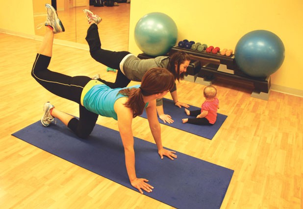 Instructor Candice Allembert (on left) with Ali and Adi Bigenho