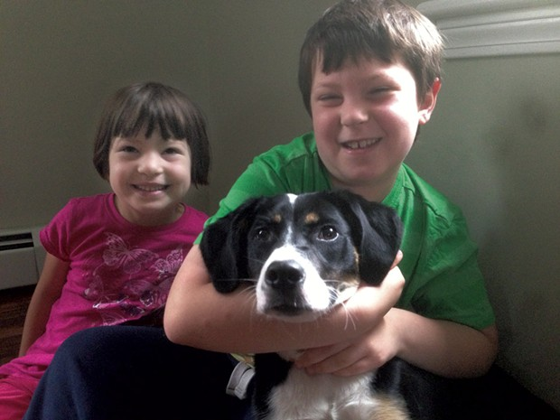 Ivy and Graham with pup Ginger