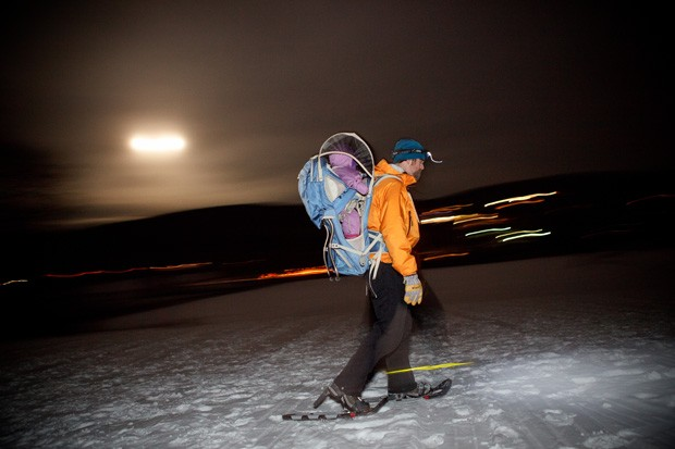 Jason Booth carrying Celia