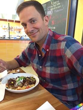 Jeff with his pork mole