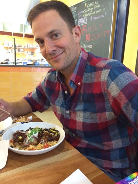 Jeff with his pork mole