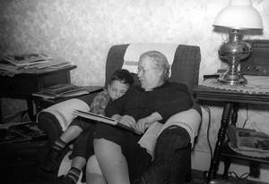 Joe Citro, as a child, with Ida May Fuller
