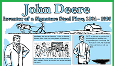John Deere, Inventor of a Signature Steel Plow, 1804-1886