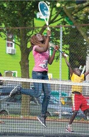 MATTHEW THORSEN - Kids learn the QuickStart program at Burlington's Roosevelt Park
