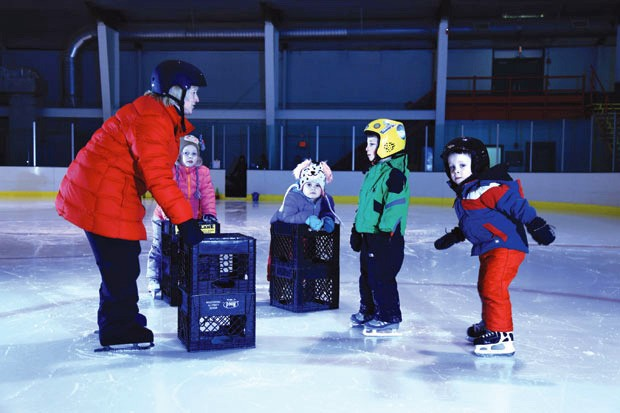 Kids learn to glide at Itty Bitty Public Skating