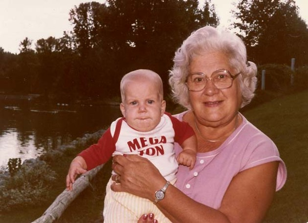 Megan James and her Nanna