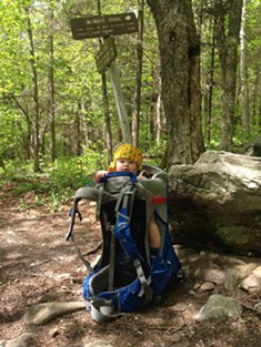 Elise was her father's co-pilot on the hike - TRISTAN VON DUNTZ