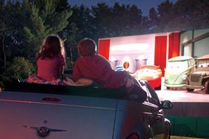 Outdoor Screen Scene