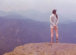 Paula Routly in the Adirondacks, 1976