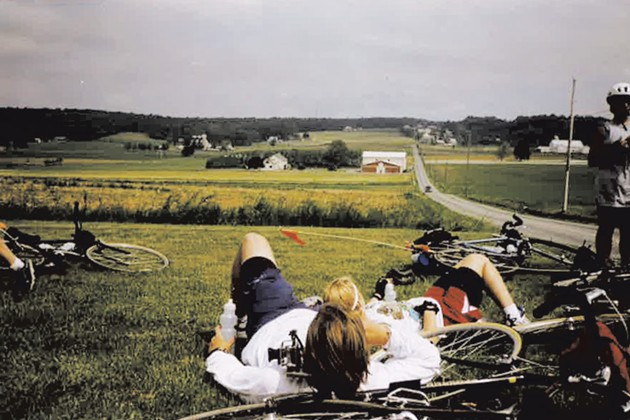 Principiates taking a breather in Amish country, 1999