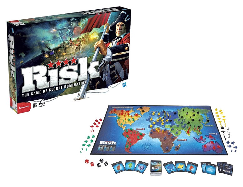 Risk, current version, $29.99; retro version, $39.99 at Kids City