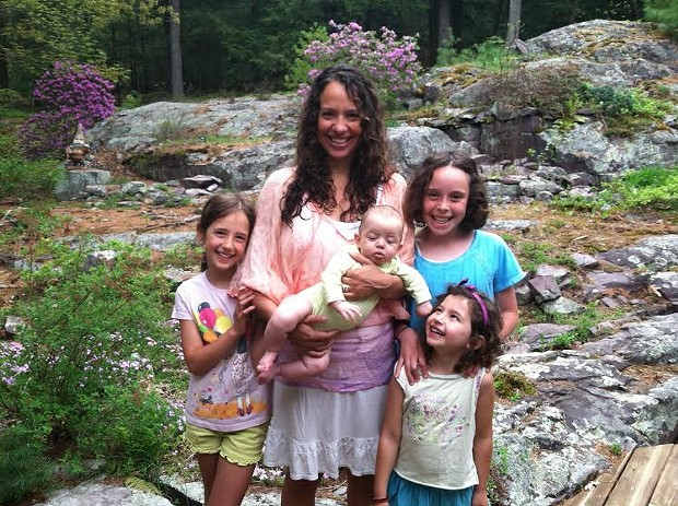 Jessica with her four daughters