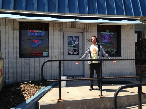 Ryan outside of Dry Dock Lounge - ANGELA ARSENAULT