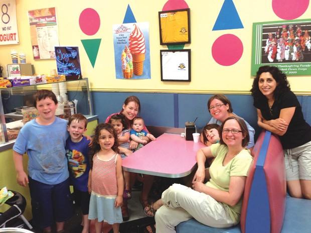 School friends reunion with kids in Michigan
