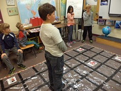 Students at Orchard School participate in unplugged coding activities - DONNA SULLIVAN-MACDONALD