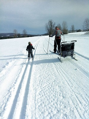 COURTESY OF SARAH BAUGHMAN - The Baughmans in Craftsbury