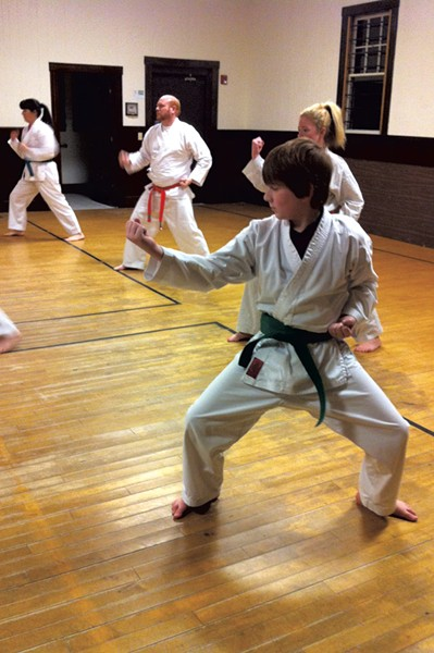 The family class at Dynamic Defensive Dojo - SARAH BAUGHMAN