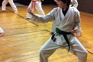 The family class at Dynamic Defensive Dojo