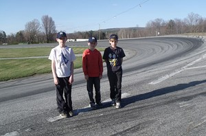The Lehman boys at the racetrack