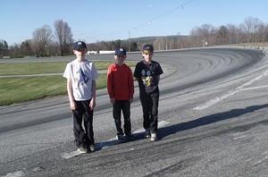 The Lehman boys at the racetrack