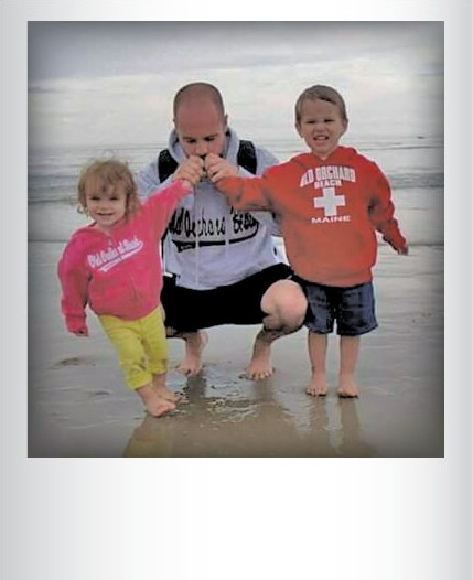 Kris Perkins with Kristopher Jr. and Katherine in 2014. Submitted by Melissa Perkins, South Burlington