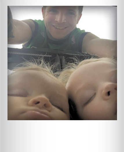 Andrew Ede with Jude and Margot last month in Essex Junction. Submitted by Andrew Ede, Essex Junction