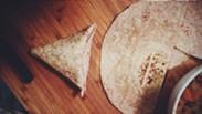A sealed samosa