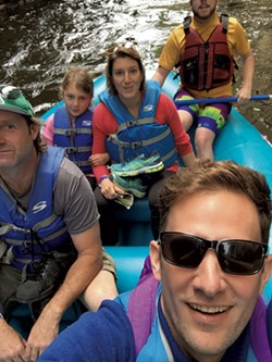 The Novak family rafting - JEFF NOVAK