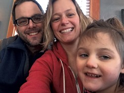 Left to right: Ben Johnson, Katrina Sliwka and their daughter Delaney - COURTESY OF BEN JOHNSON & KATRINA SLIWKA