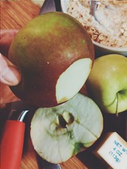 Prepping the apples - ERINN SIMON