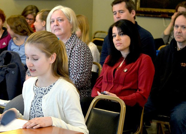 Taegan Yardley testifies last spring at the Vermont Statehouse - KRISTEN YARDLEY