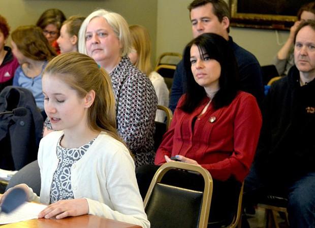Taegan Yardley testifies last spring at the Vermont Statehouse - KRISTEN YARDLEY