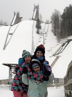 The Ticktin girls at the Olympic complex - JESSICA LARA TICKTIN