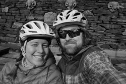 Sarah and Tristan celebrate bike riding and sunshine - TRISTAN VON DUNTZ