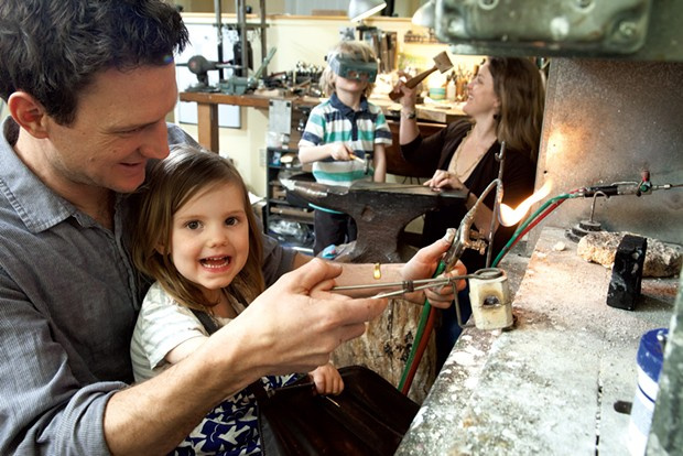 Dad: Jacob Albee, designer/co-owner at Jacob Albee Goldsmith, 40 - Mom: Kristin Albee, business manager/co-owner at Jacob Albee Goldsmith, 38 - Kids: Son, Axel, 5, and daughter, Noël, 3 - MATTHEW THORSEN