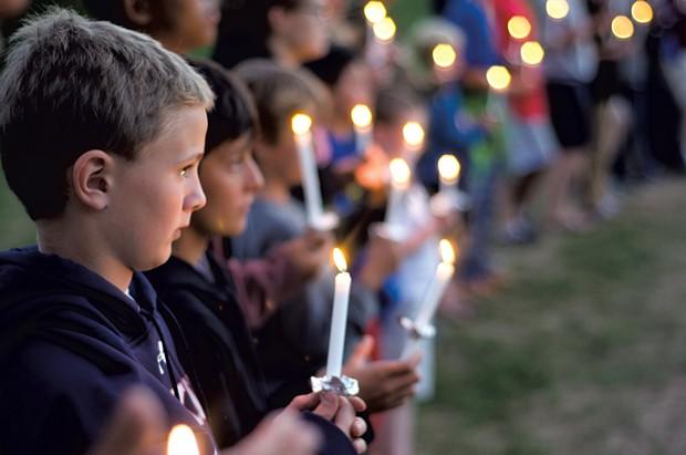 Candlelight Ceremony at Camp Abnaki - COURTESY OF CAMP ABNAKI