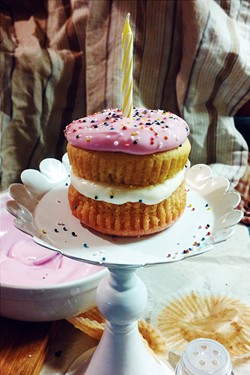 A mini layer cake fit for a baby - SAM SIMON