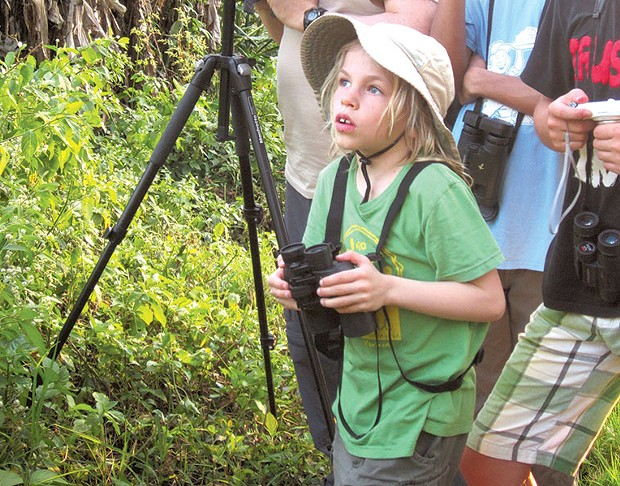Isaac Wood-Lewis out bird-watching. - COURTESY OF VALERIE WOOD-LEWIS